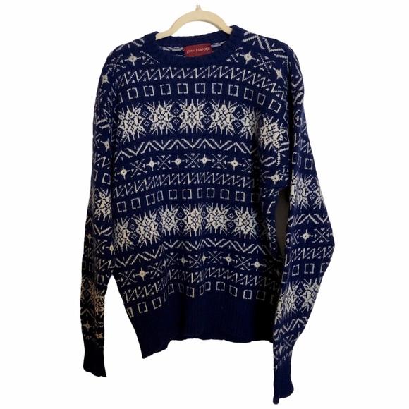John Ashford 100% Shetland wool snowflake sweater